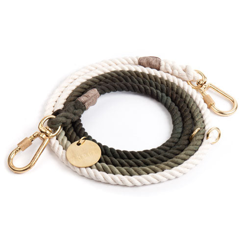 Olive Ombre Cotton Rope Leash
