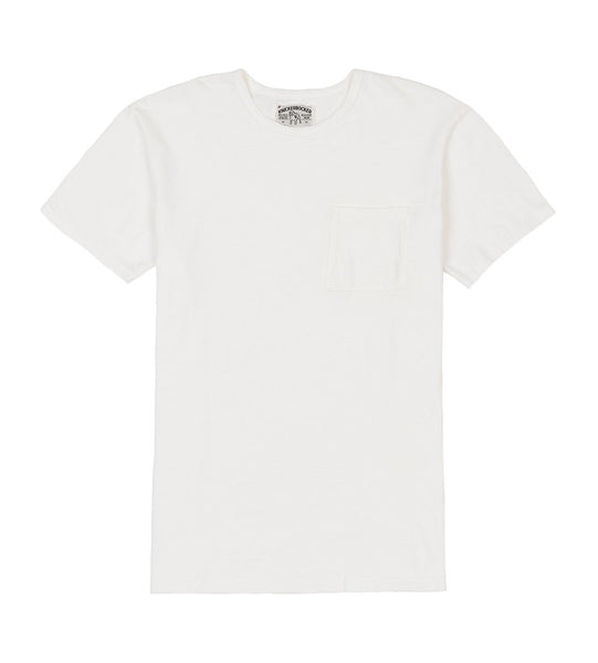 WHITE POCKET TUBE TEE