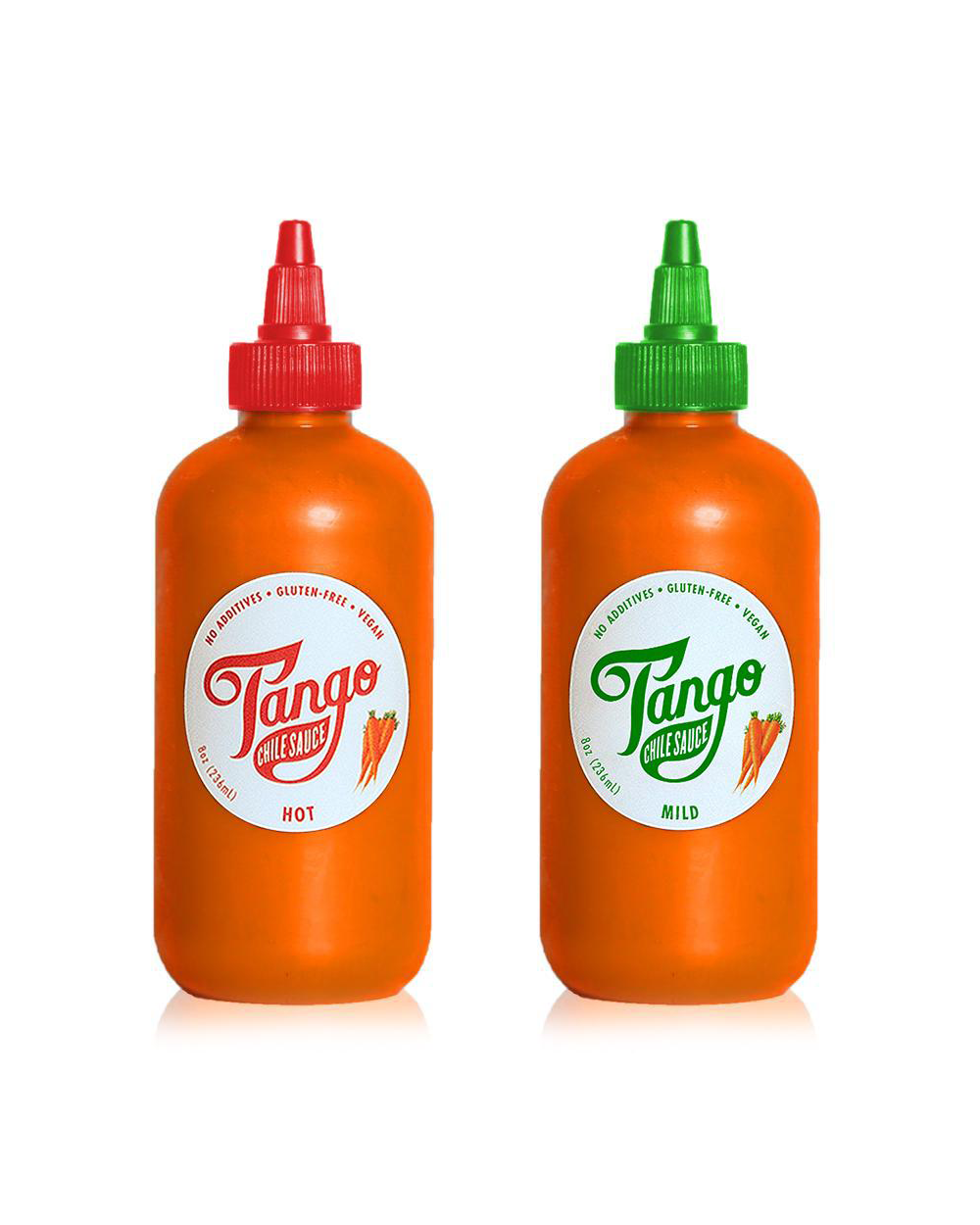 Hot and Mild Carrot Hot Sauce Two Pack