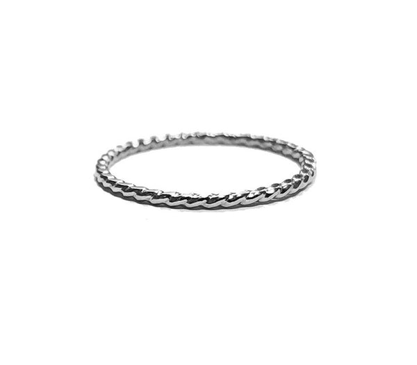 Twisted Sterling Silver Ring