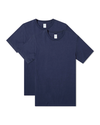 Two-Pack Plain Tee - Navy