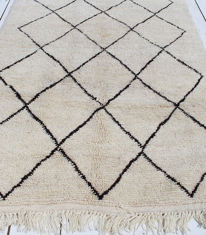 Beni Hand-knotted Rug, Dark Brown