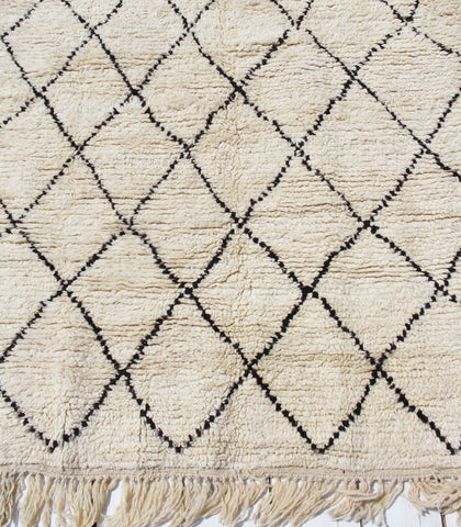 Beni Hand-knotted Rug, Brown