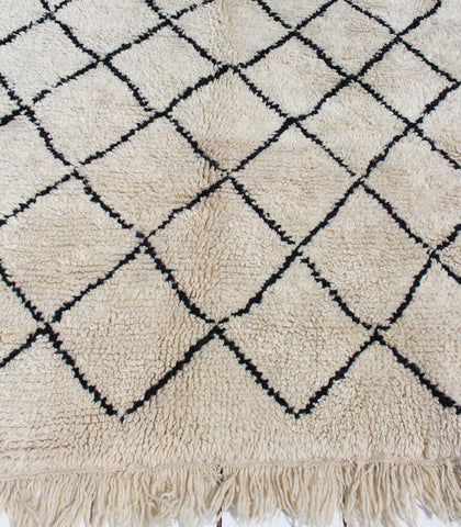 Beni Hand-knotted Rug, Black