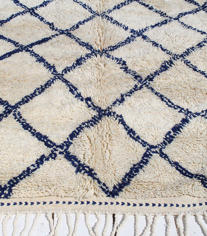 Beni Hand-knotted Rug, Blue