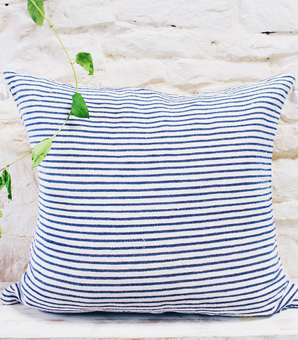 Breton Cushion - Blue