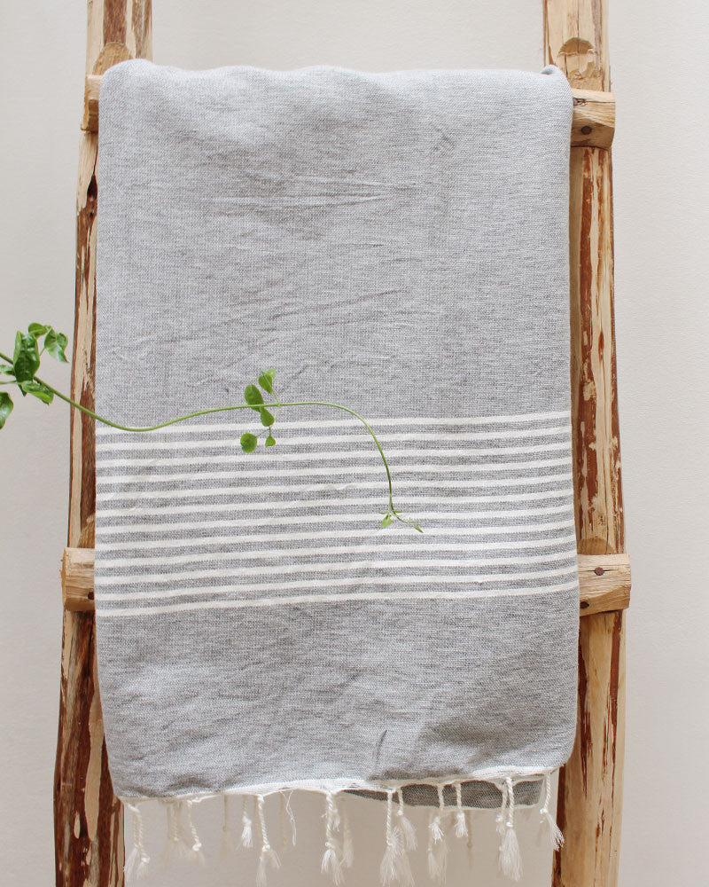 FREYA COTTON TOWEL - Light Grey