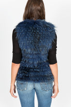 Load image into Gallery viewer, Fox Fur Vest/Gilet (Blue-Dyed)