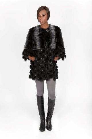 Chinchilla Rex & Fox Fur Tunic