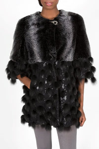 Fox Fur & Chinchilla Rex Fur Jacket