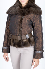 Silk Taffeta & Sable fur Coat