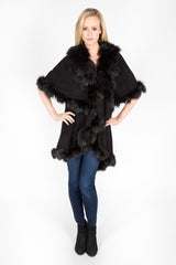 The Princess Cape.  Cashmere & Wool Blend with Finnish Fox Fur