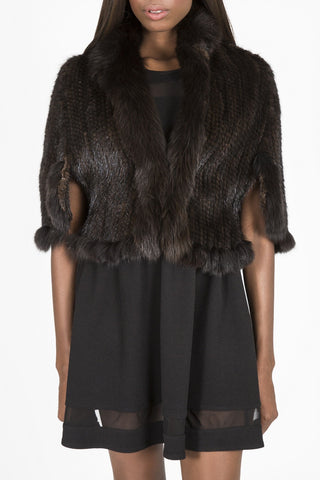 Knitted Denmark Mink & Fox Fur Capelet