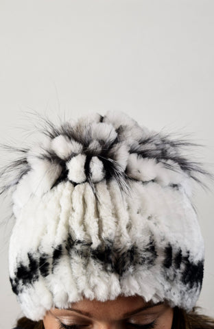 Chinchilla Rex & Fox Fur Hat