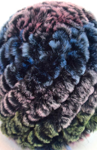 Chinchilla Rex Fur Hat (Dyed)