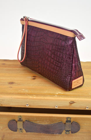 Croc Clutch Purse (Cavalcanti)