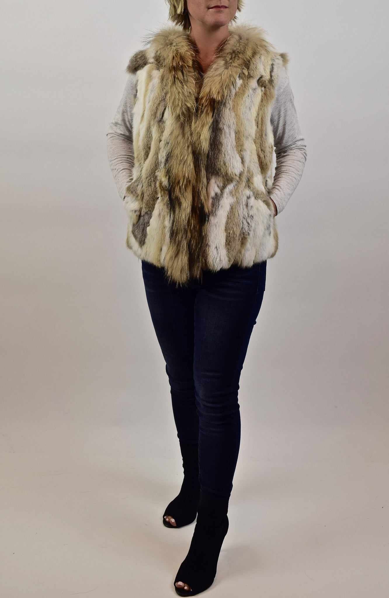 Rabbit & Raccoon Fur Vest