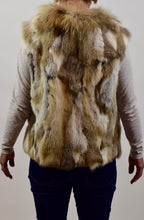 Load image into Gallery viewer, Rabbit & Raccoon Fur Vest