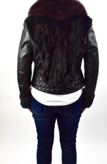 Mink, Fox and Lamb Leather Jacket