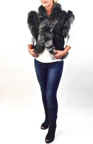 Lamb/Shearling & Fox fur Vest