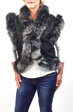 Load image into Gallery viewer, Lamb/Shearling & Fox fur Vest
