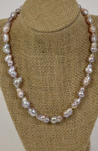 Load image into Gallery viewer, Silver Baroque Pearls Necklace