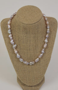 Silver Baroque Pearls Necklace
