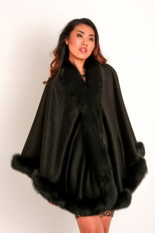 Fox Fur & Cashemere Cape