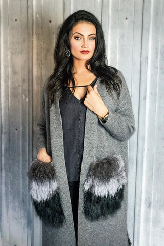Cashmere and Fox Fur Sweater