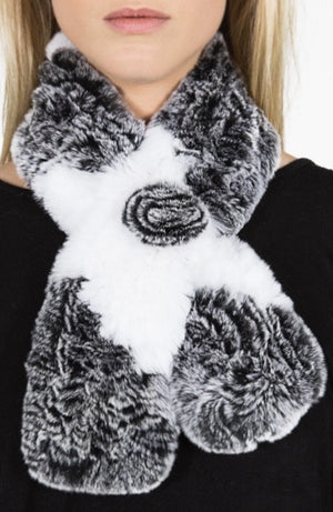 Chinchilla Rex Fur Scarf