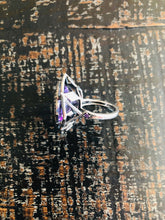 Load image into Gallery viewer, Amethyst & Diamond Ring (Sterling)