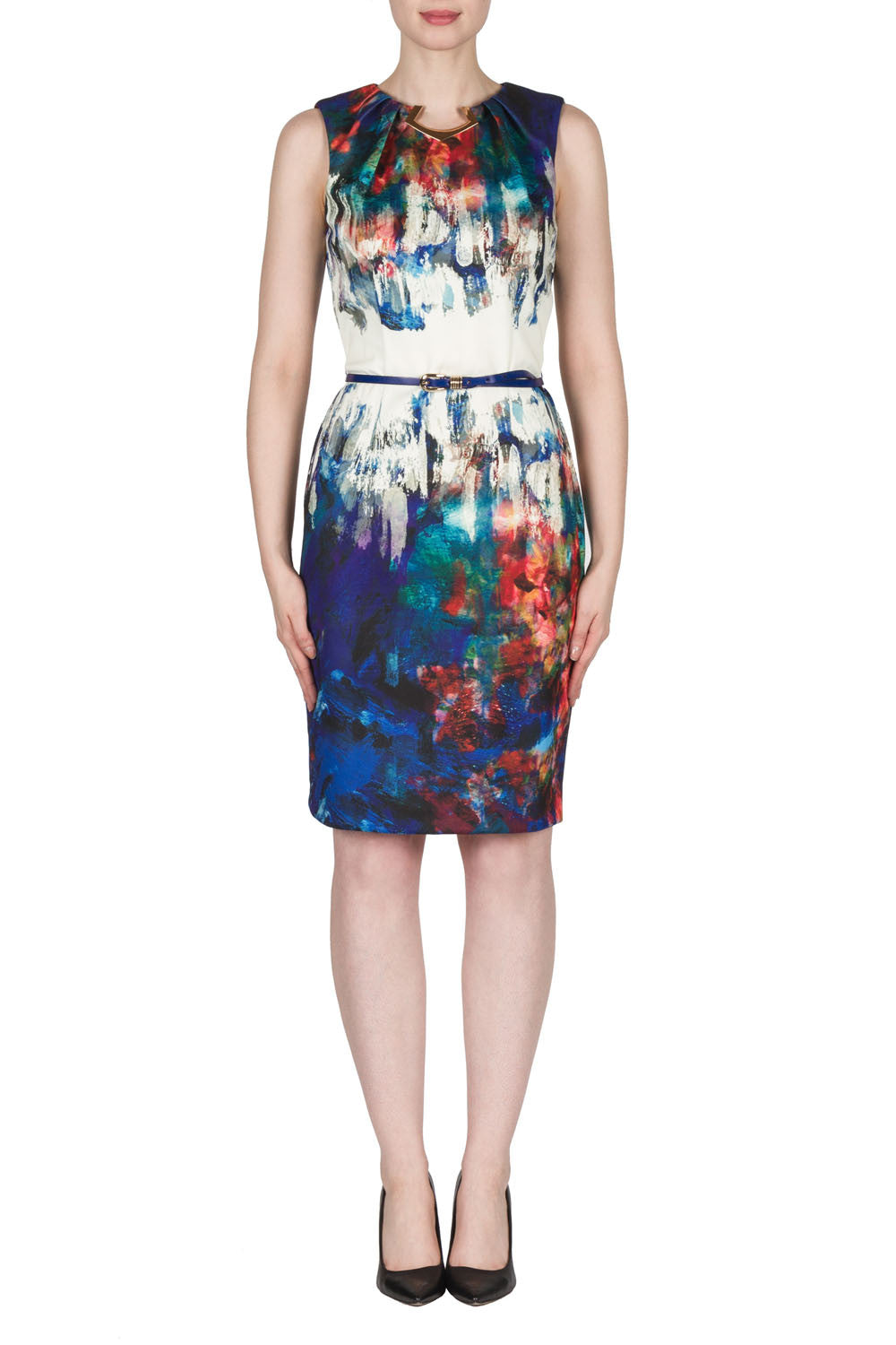 Water Color Sleeveless Dress by Joseph Ribkoff