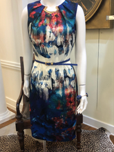 Load image into Gallery viewer, Water Color Sleeveless Dress by Joseph Ribkoff