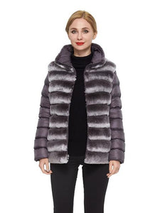 Chinchilla Rex Reversible Puffer Jacket