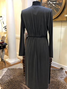 Black & Gray Wrap Dress by French Connection