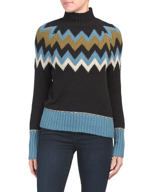 Nordic Mock Turtle Neck Sweater