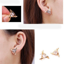 Load image into Gallery viewer, Silver Plated Floating Cubic Zirconium Earrings