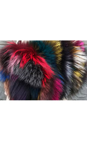 Fox Fur Multi Color Purse
