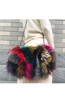 Load image into Gallery viewer, Fox Fur Multi Color Purse