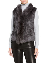 Load image into Gallery viewer, Rabbit & Raccoon Fur Knitted Vest with Fringe