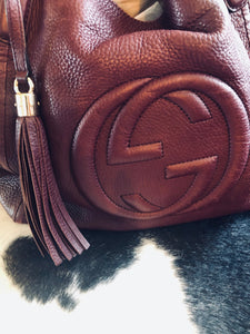 Authentic Gucci Leather Handbag (preowned)