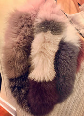 Fox Fur Infinity Scarf/Snood  (multi-colored)