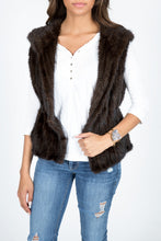 Load image into Gallery viewer, Knitted Mink Fur Vest with Hood (Denmark)
