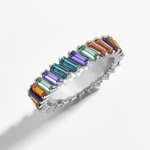Rainbow II Crystal Ring