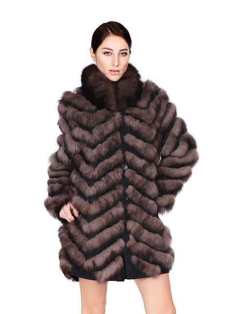 Fox Fur Coat (Reversible)
