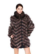 Load image into Gallery viewer, Fox Fur Coat (Reversible)