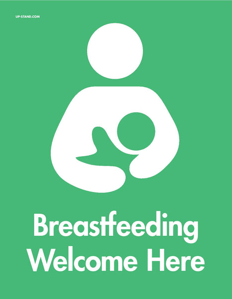 """Breastfeeding Welcome Here"" Signs"