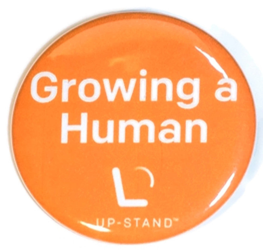 Growing a Human Pregnancy Pin - Text/Logo