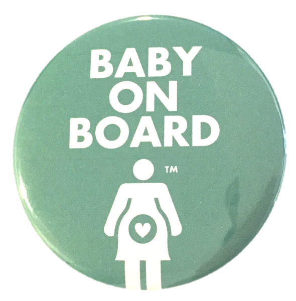 Baby on Board Graphic Pregnancy Pin