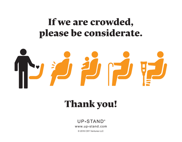 Priority Seating Signs